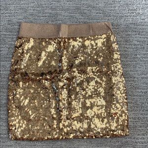 Gold Sequined Miniskirt, Size Small